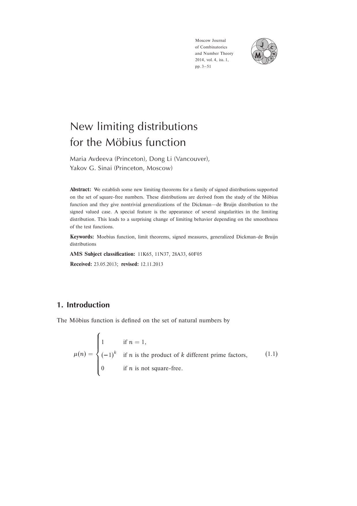 Moscow journal of combinatorics and number theory free access publicscrutiny Image collections